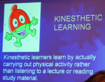 the kinesthetic aural and visual types of learning Kinesthetic learning (american english) perceptual depicts the styles of auditory, visual, tactual and kinesthetic styles where learners learn more effectively.
