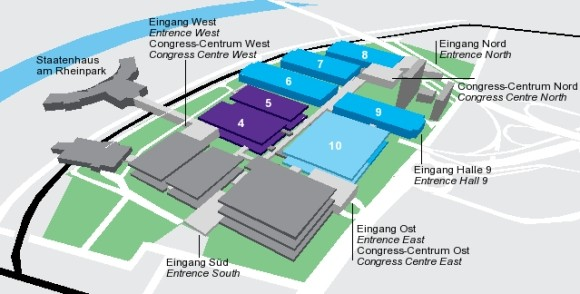 Gamescom exhibit hall map