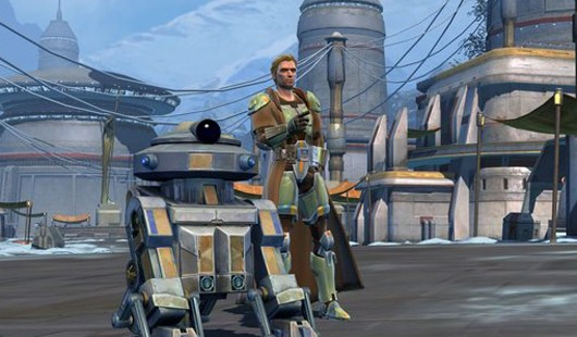 Star Wars The Old Republic - Jedi and droid