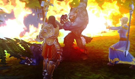 Allods Online - battle screenshot