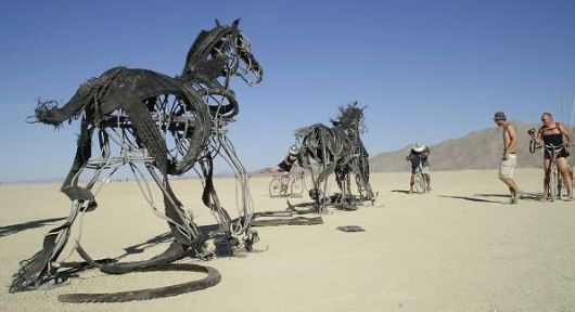 Burning Man horse art
