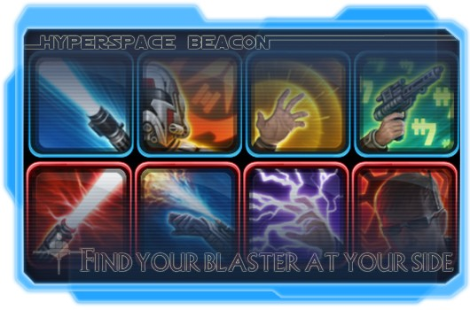 Hyperspace Beacon: Find your blaster at your side