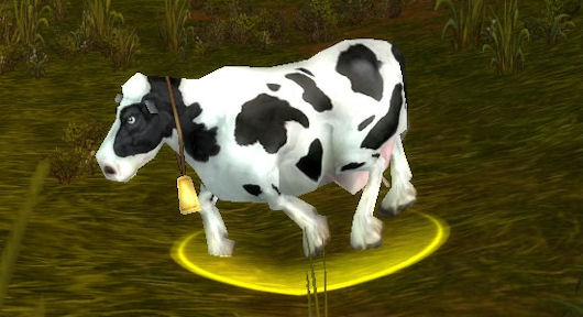 WoW cow screenshot taken by my guildie Cal!
