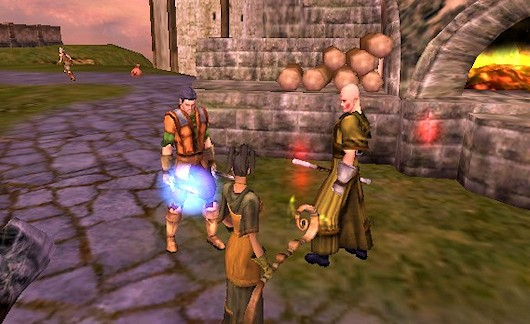 Asheron's Call 2 -- That's a couple of my guildies and I checking out AC2 beta way back forever ago