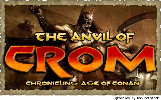 The Anvil of Crom banner - angry man with a sword