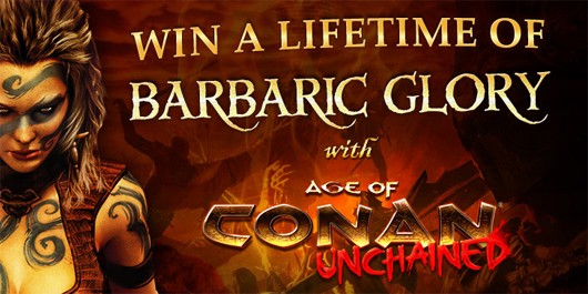 Age of Conan - Barbarian girl contest header