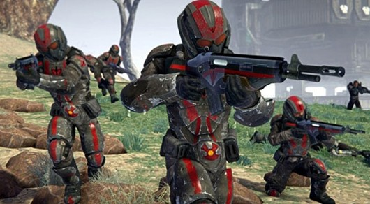 PlanetSide 2 - soldiers attacking