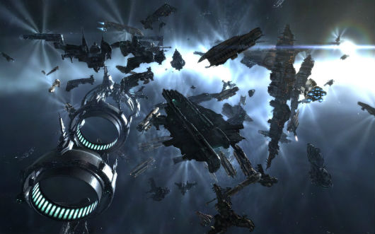 EVE Online - space battle