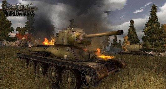 World of Tanks - tanks on fire