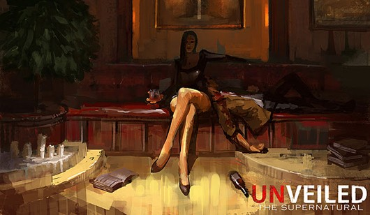 Unveiled The Supernatural - vampire girl concept art