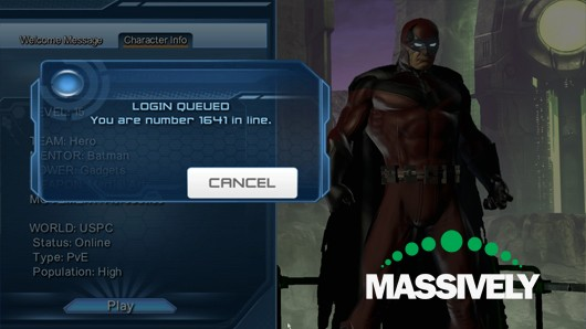 DC Universe Online - login queue