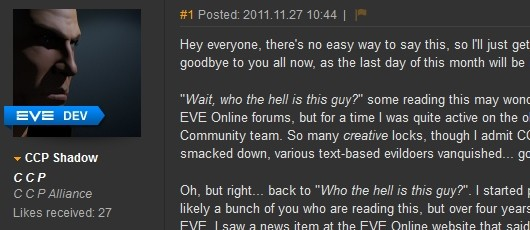DUST 514 community manager post image