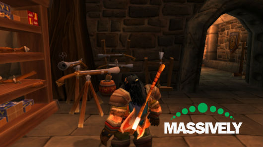 World of Warcraft - Dwarf looking at a musket