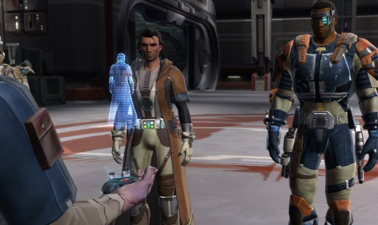 Republic agents preparing to beta test The Even Older Republic.  It's pretty meta.