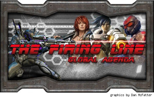 The Firing Line - header with various shooter avatars