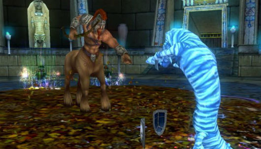 Wizard101 - centaur dude fighting