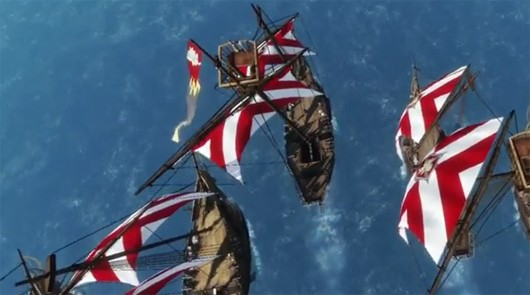 ArcheAge - bird's eye view of sailing ships