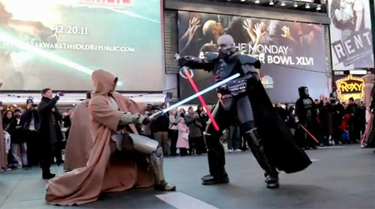 Darth Malgus vs. Jedi cosplay