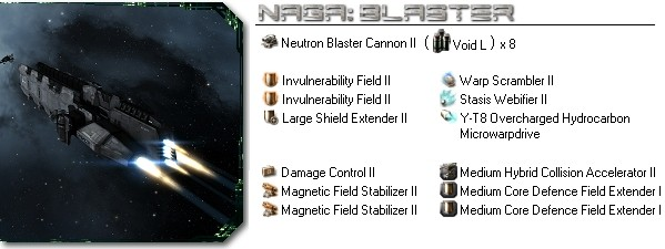 Naga fitting: Blaster