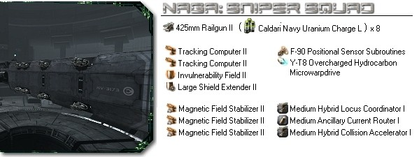 Naga fitting: Sniper squad