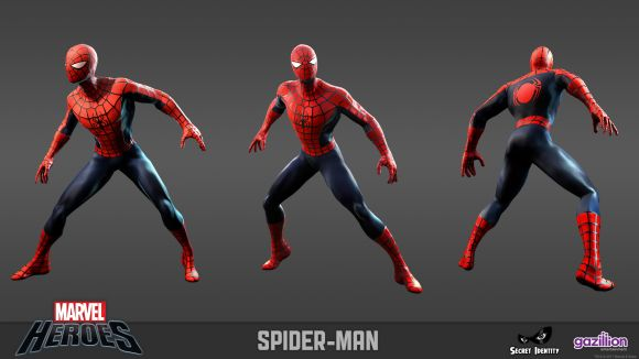 Spider-Man model sheet
