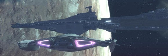 Imperial Agent starship exiting the Imperial Fleet