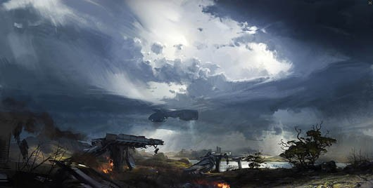 DUST 514 - planetary concept art