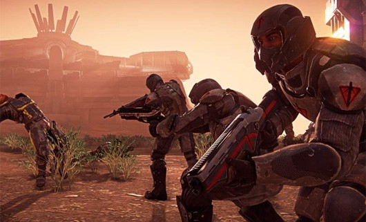 PlanetSide 2 - soldiers at dusk