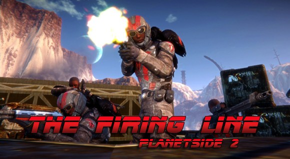 The Firing Line - PlanetSide 2 trooper opens fire