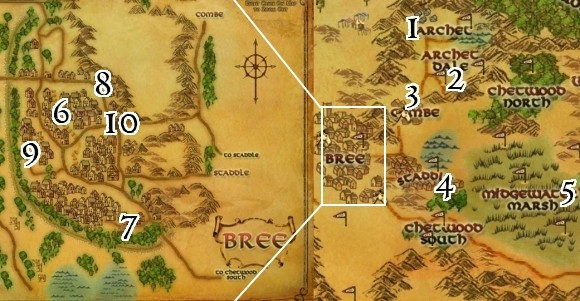 East Bree-land map