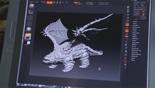 EverQuest II - Lumpy the dragon in production