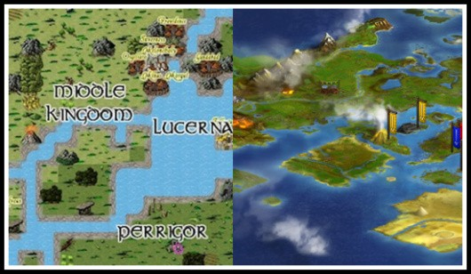 Illyriad and RuneScape maps