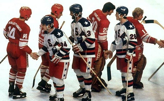 Miracle on ice  handshake