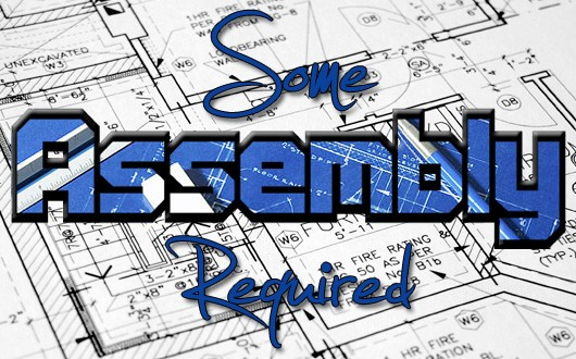 Some Assembley Required - architectural plans banner