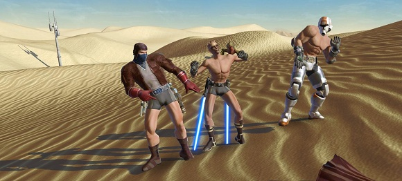 SWTOR dancing in the desert