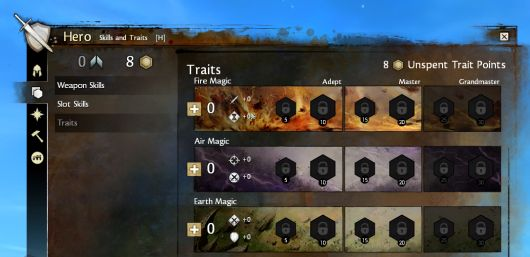 Screenshot -- Guild Wars 2 trait panel