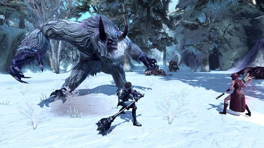 RaiderZ - Snow battle with a yeti or something
