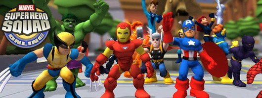 Super Hero Squad Online - Wolverine, Iron Man, and Captain America