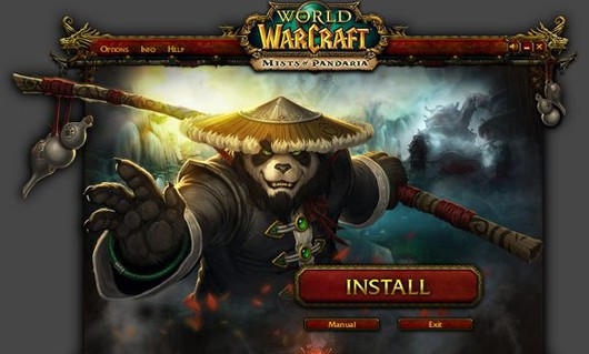 World of Warcraft - Mists of Pandaria install screen