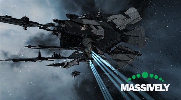 EVE Online - Caldari space station approach
