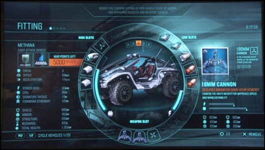 DUST 514 - vehicle fitting screen