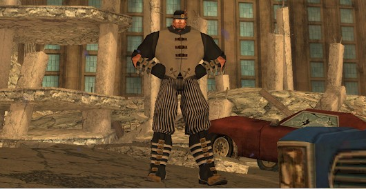 In CoH, there's actually a character model called huge, but only for men, of course. A large or fat female superhero might offend male sensibilities.