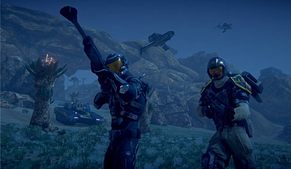 PlanetSide 2 - night fight