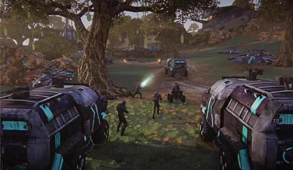 PlanetSide 2 - two guns
