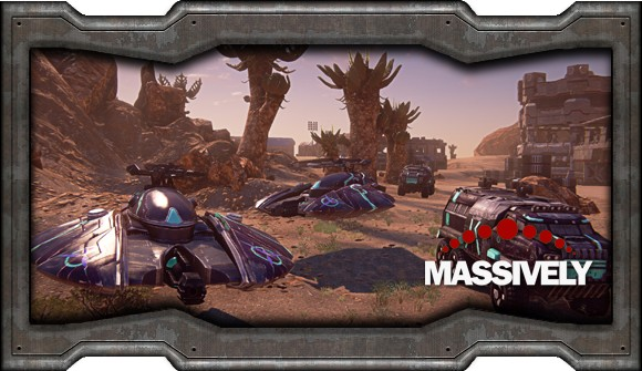 PlanetSide 2 - purple faction vehicles