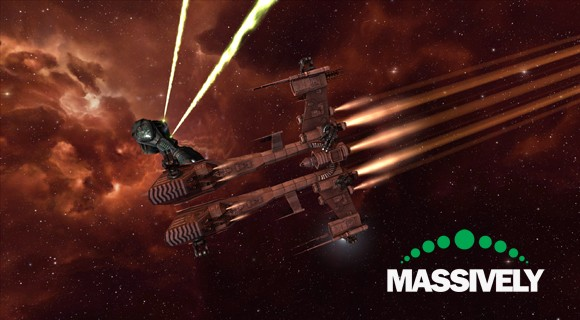 EVE Online - Minmatar rifter in PvE complex