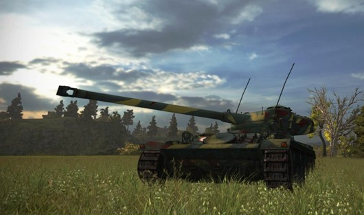 World of Tanks - French tank in a field, hopefully a newish screenshot