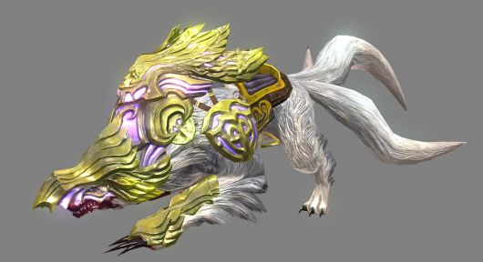 Yellow Wolf Mount - RaiderZ