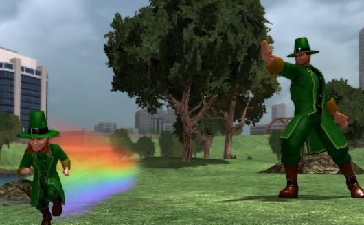City of Heroes will let you be very green.  Almost painfully so.