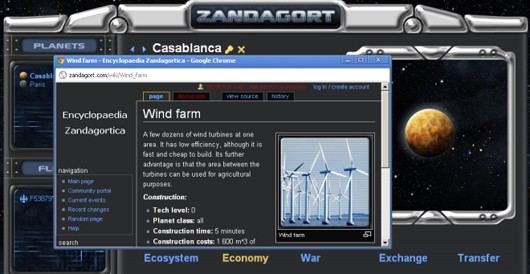 Zandagort interface